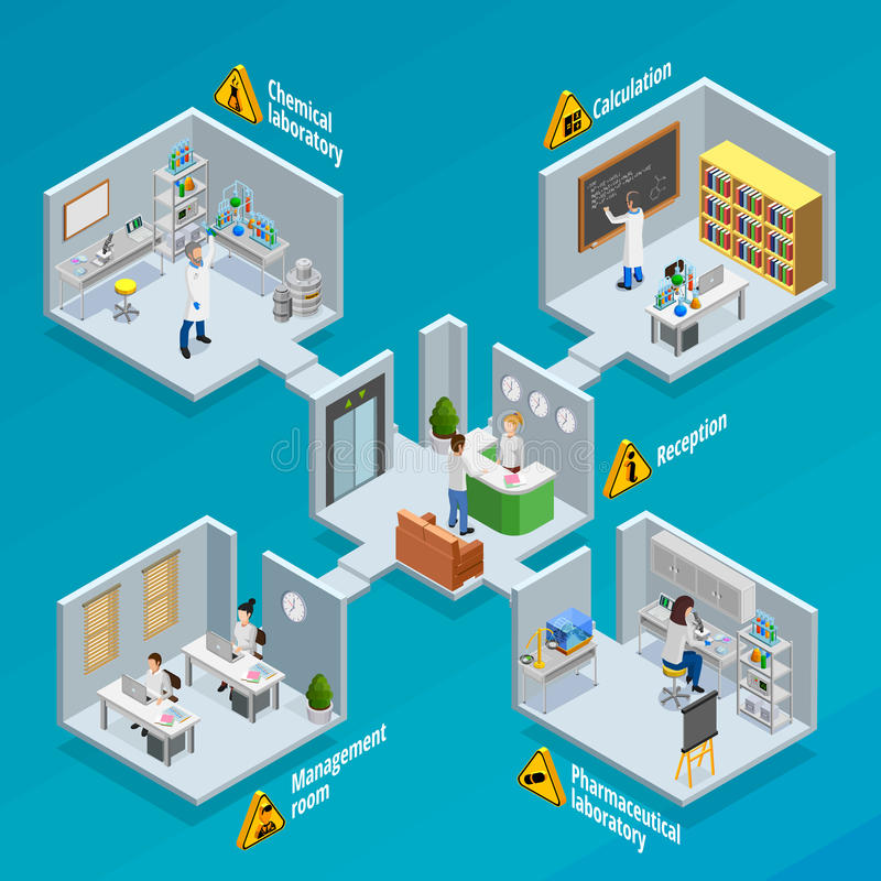 Laboratory And Research Concept Illustration vector illustration
