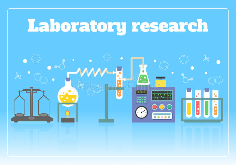 Laboratory research concept royalty free illustration