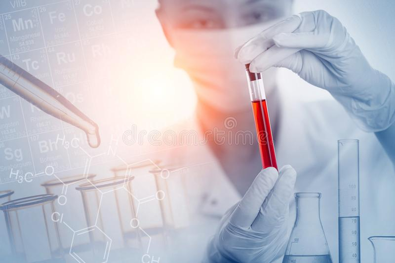 Laboratory Research. Health care. Blood test. royalty free stock images