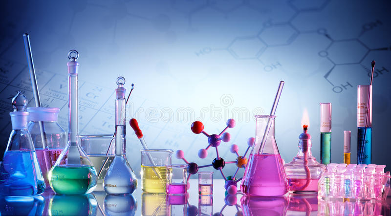 Laboratory Research - Scientific Glassware royalty free stock images