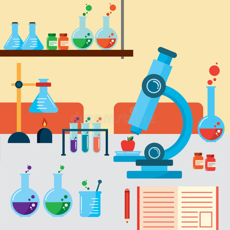 Laboratory room royalty free stock images