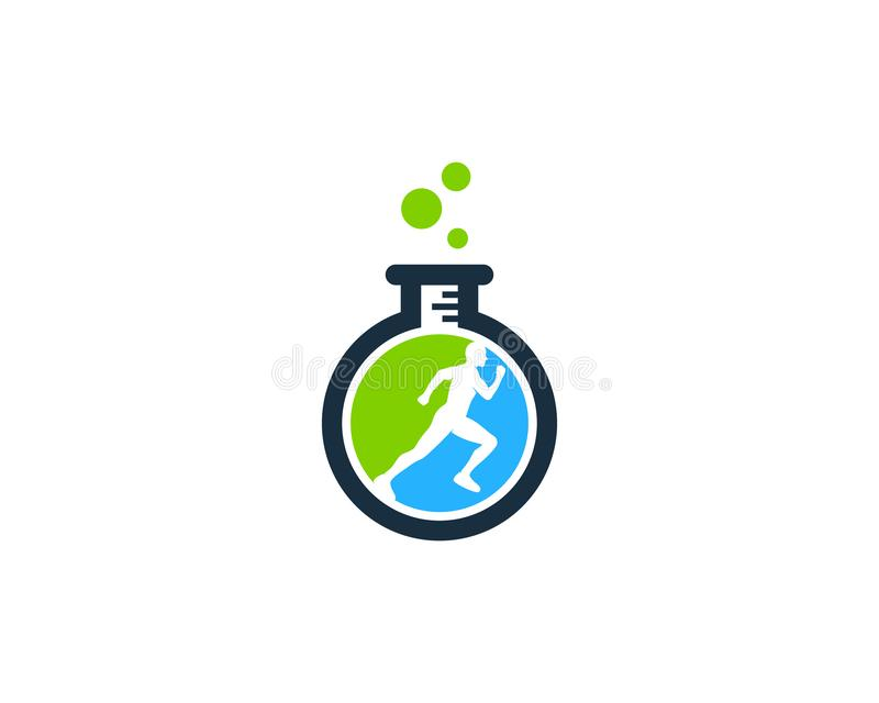 Laboratory Run Logo Icon Design. This design can be used as a logo, icon or as a complement to a design stock illustration