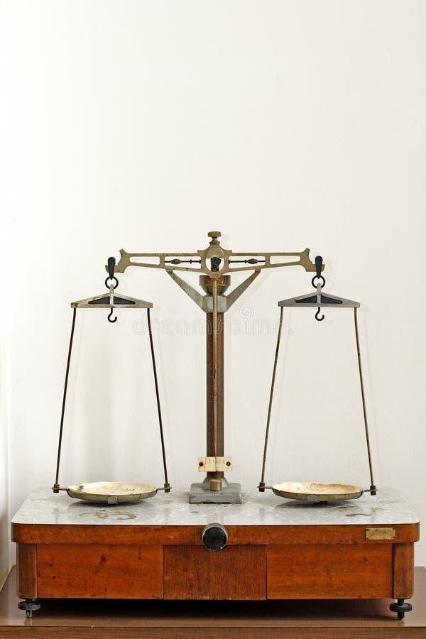 Laboratory scales stock image