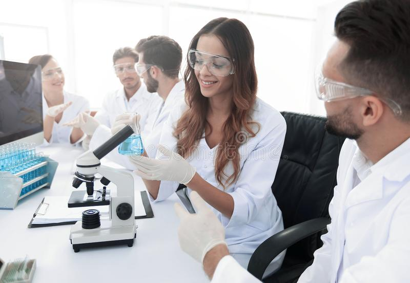 Laboratory staff in the workplace royalty free stock photography