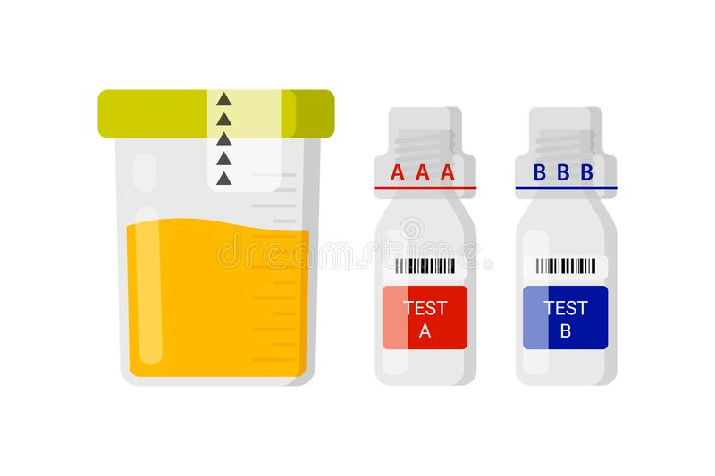 Laboratory test for doping royalty free illustration
