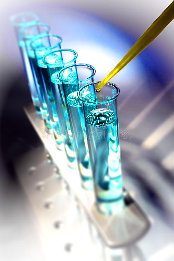 Download Laboratory Test Tubes In Science Research Lab Stock Photo - Image: 20022888