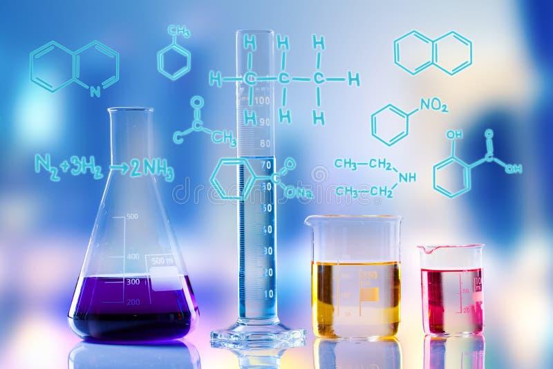 Laboratory tubes royalty free stock images