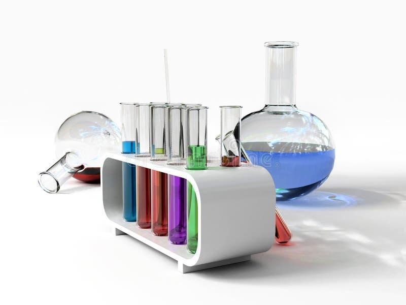 The laboratory tust tubes royalty free illustration