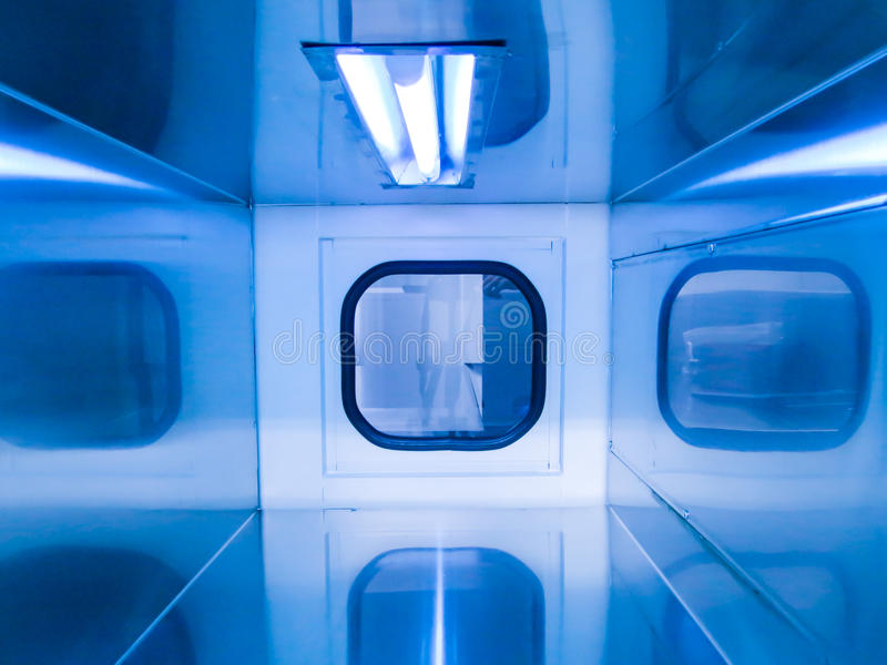 Laboratory UV disinfection royalty free stock photography