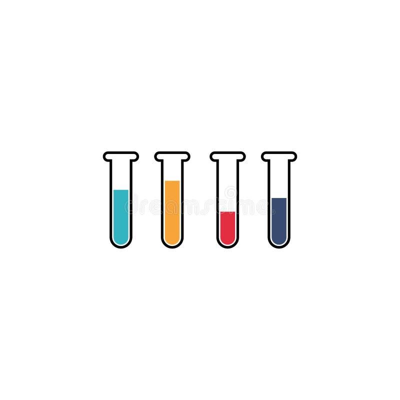 laboratory vector design template, icon set, thermometer vector illustration
