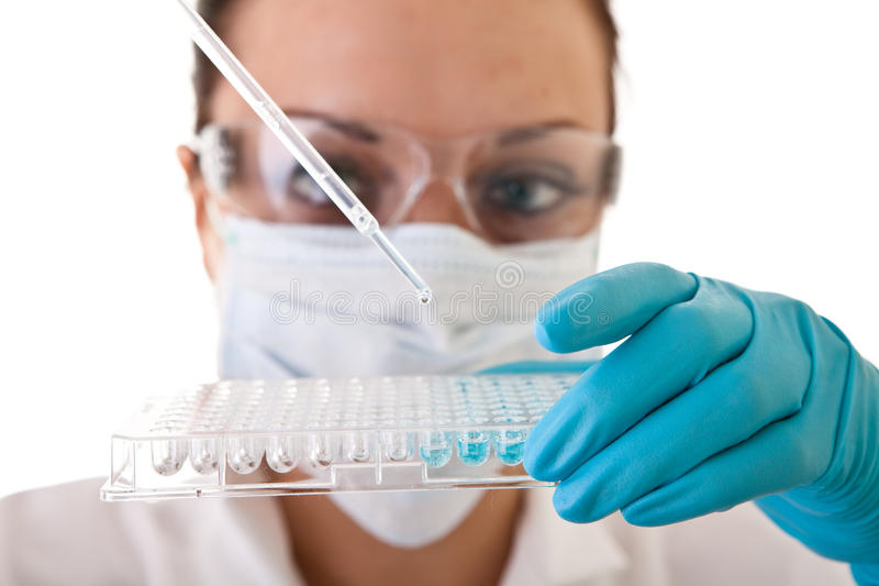 Laboratory work - research stock photos