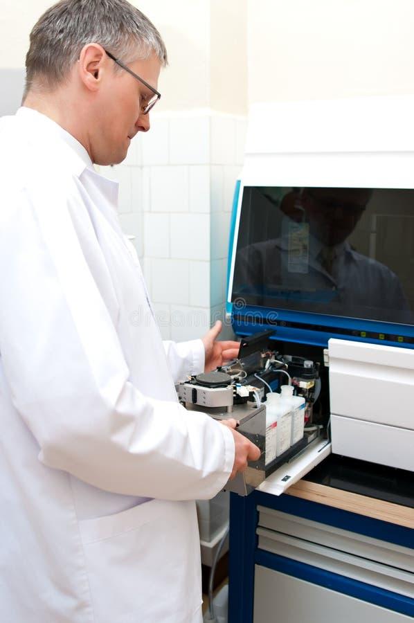 Laboratory worker royalty free stock photo