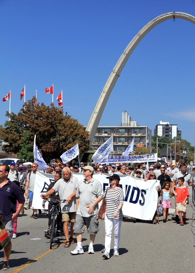 Download Laborers Marching In Toronto Editorial Stock Photo - Image: 26843868