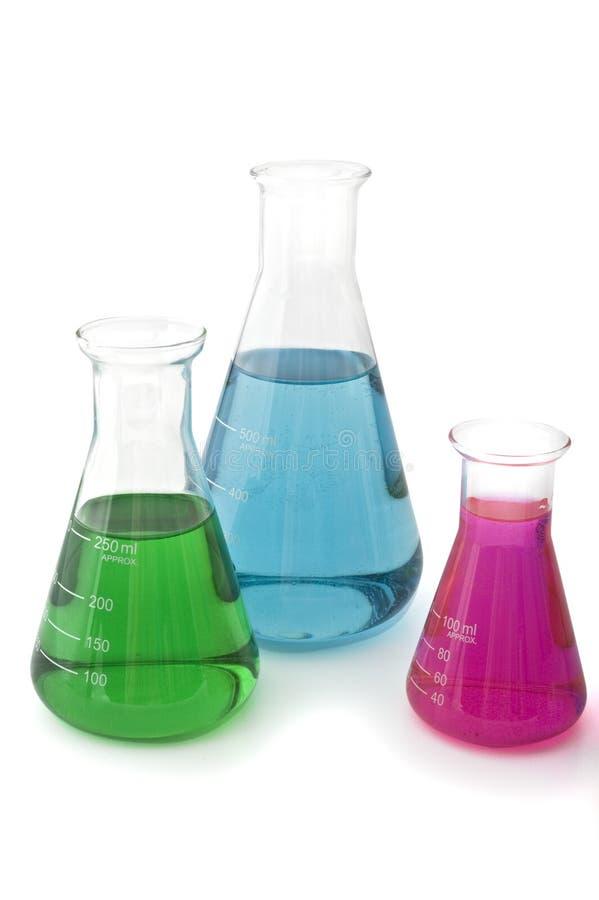 Laborflaschen stockbild