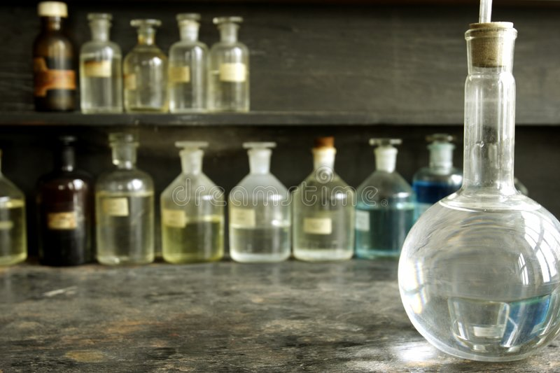 Laborglas lizenzfreies stockbild