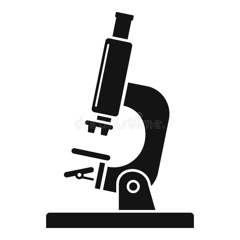 Labormikroskopikone, einfache Art vektor abbildung