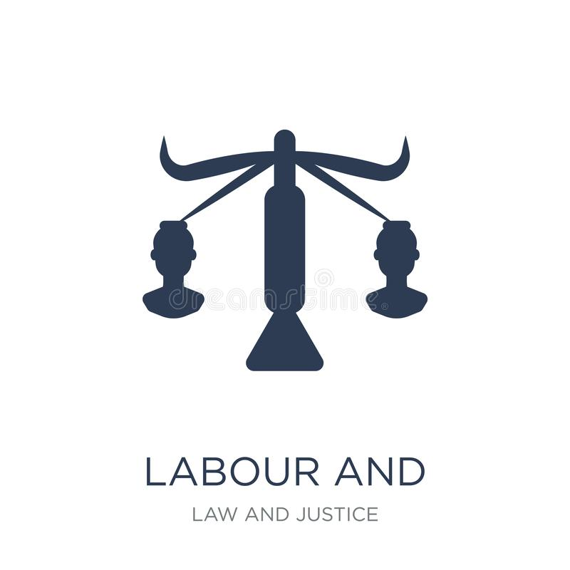 labour and social law icon. Trendy flat vector labour and social vector illustration