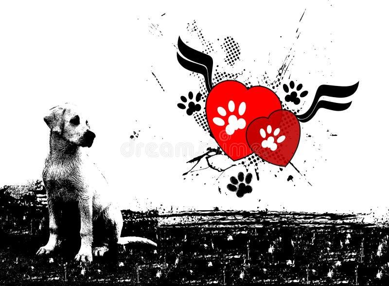 Labrador ilustração stock