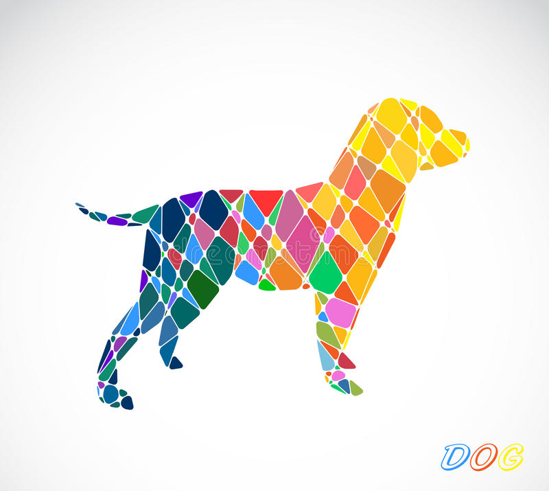 Labrador dog abstract isolated on a white backgrounds. Vector illustration