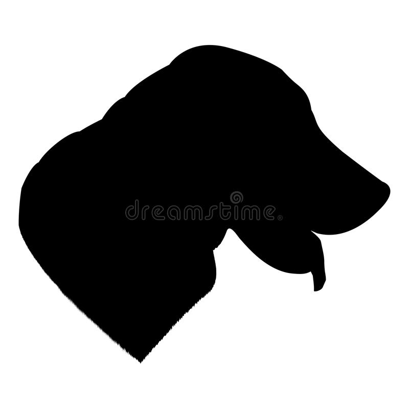 Labrador dog silhouette isolated on white background vector illustration royalty free stock photo