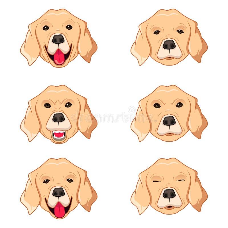 Labrador Retriever Emoticons ilustracja wektor