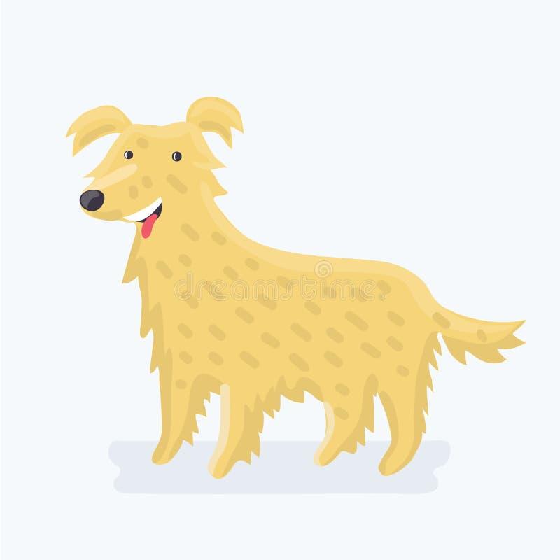 Labrador retriever - raza del perro stock de ilustración