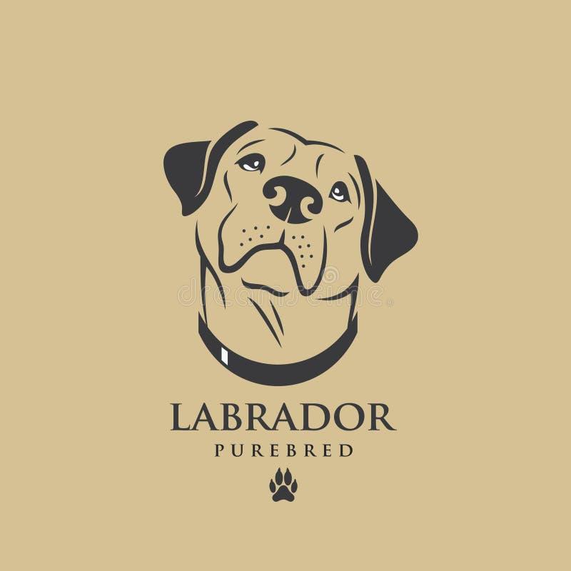 Labradorhond - vectorillustratie stock illustratie
