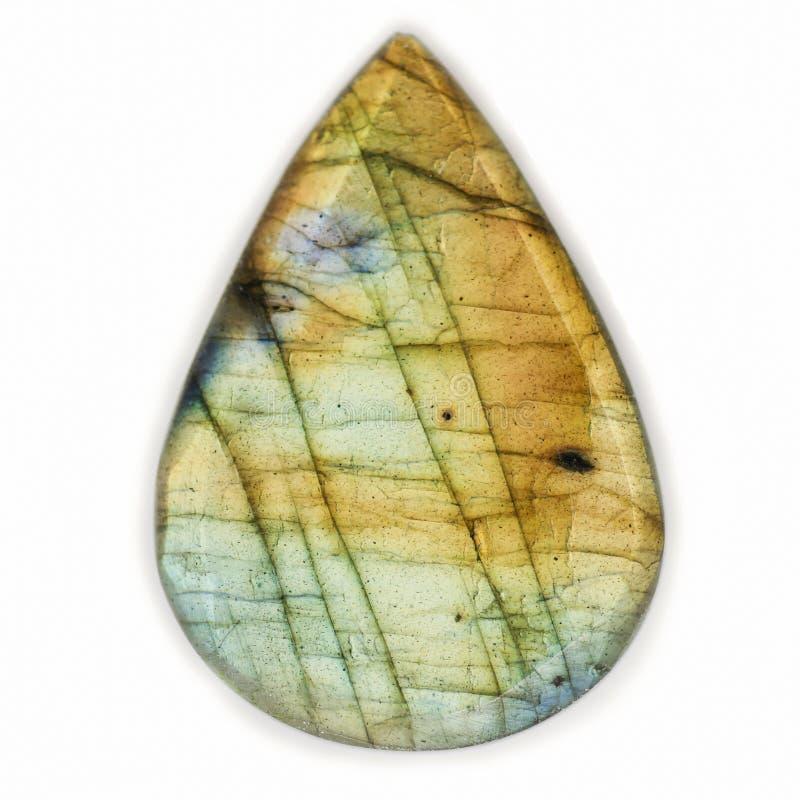Labradorita Crystal Gemstone Drop fotografía de archivo libre de regalías
