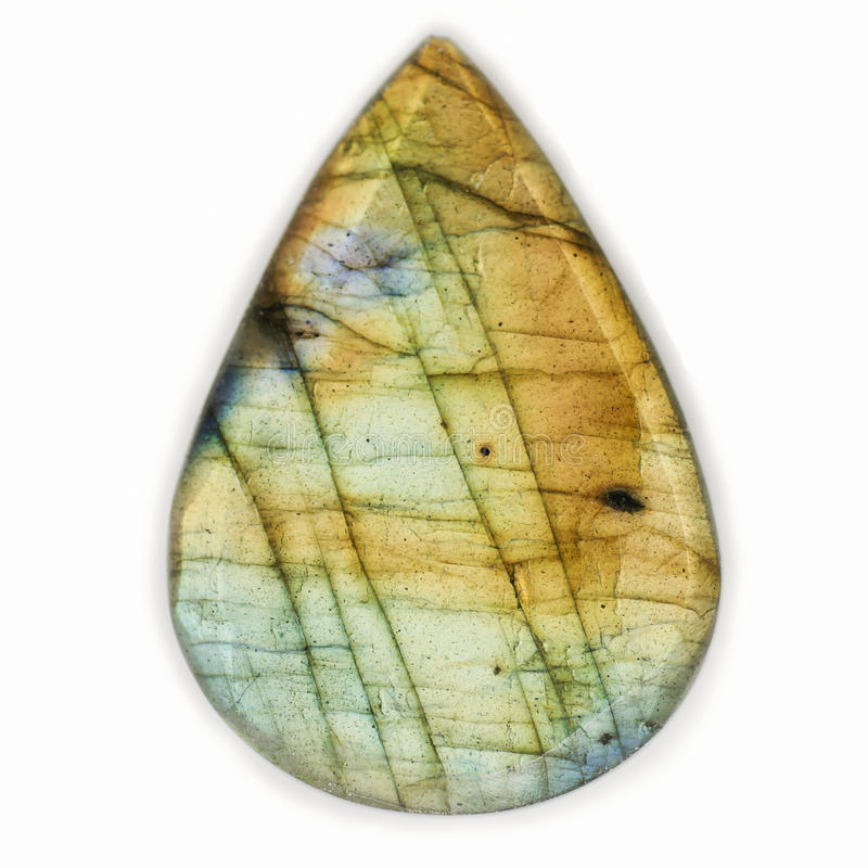 Labradorite Crystal Gemstone Drop royalty free stock photography