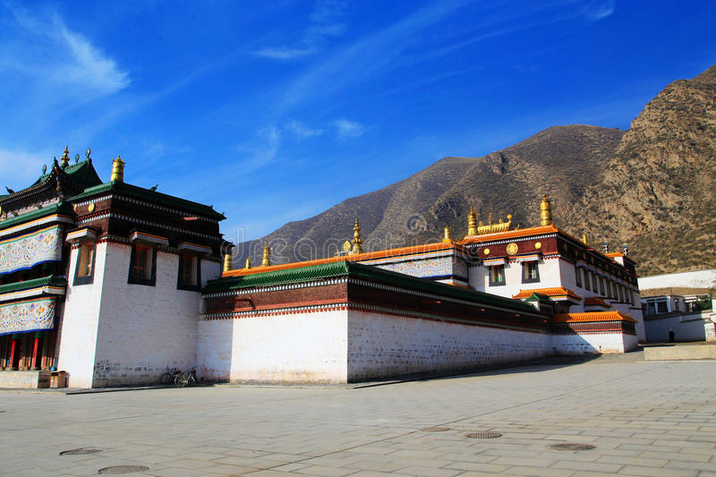 Labrang Lamasery de bouddhisme tibétain en Chine photo stock