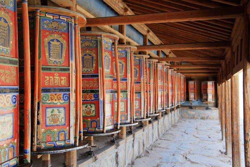 Labrang Lamasery des tibetanischen Buddhismus in China stockfotos