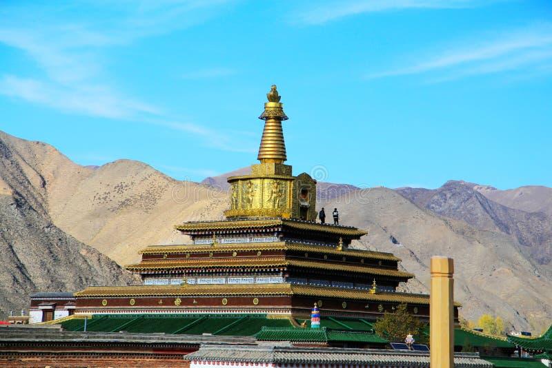 Labrang Lamasery di buddismo tibetano in Cina immagine stock libera da diritti