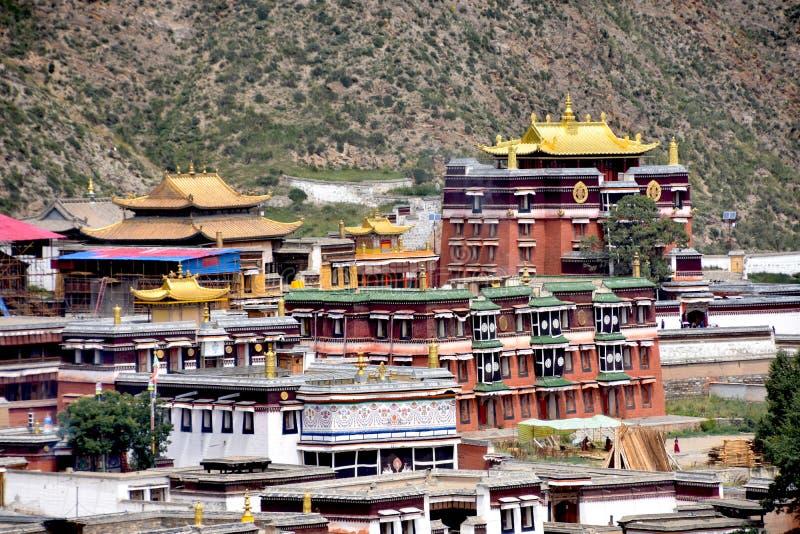 Labrang Monastery em Xiahe, China fotografia de stock royalty free