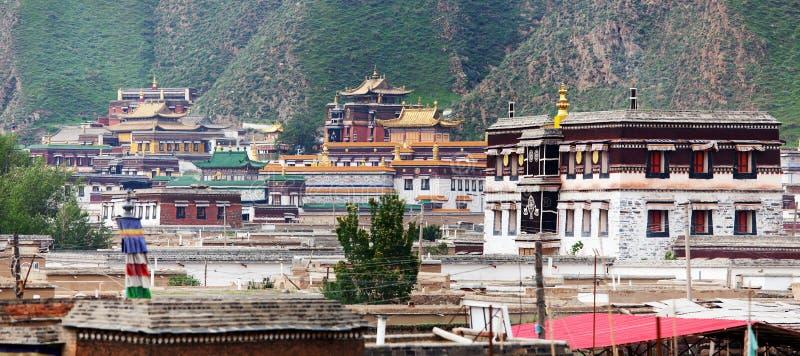 Labrang Monastery - Xiahe, Gannan, Gansu imagens de stock royalty free
