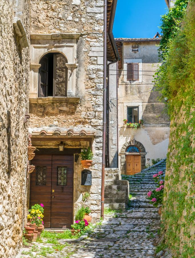 Labro, small and picturesque village in the Province of Rieti, Lazio, central Italy. royalty free stock images