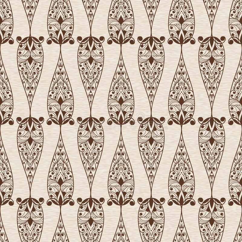LAbstract Seamless Ethnic Floral Pattern stock illustration