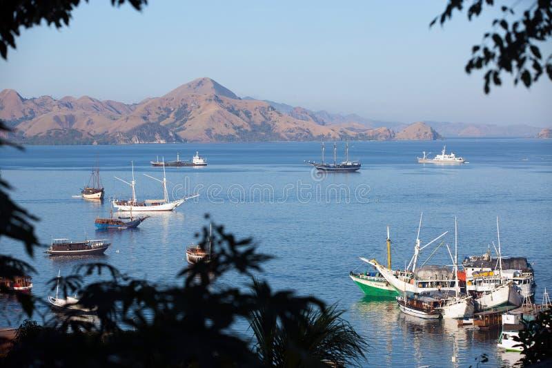 Labuan Bajo harbor royalty free stock photo