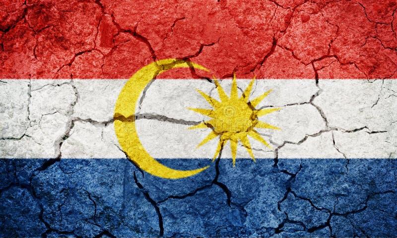 Labuan, Federacyjny terytorium Malezja, flaga fotografia royalty free