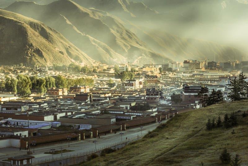 Labuleng świątynia, południe Gansu, Chiny fotografia royalty free