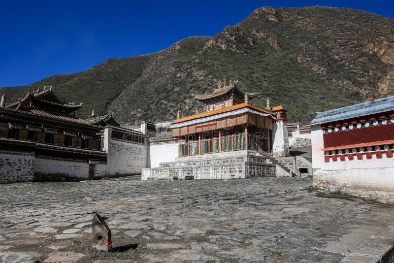 Labuleng świątynia, południe Gansu, Chiny fotografia stock