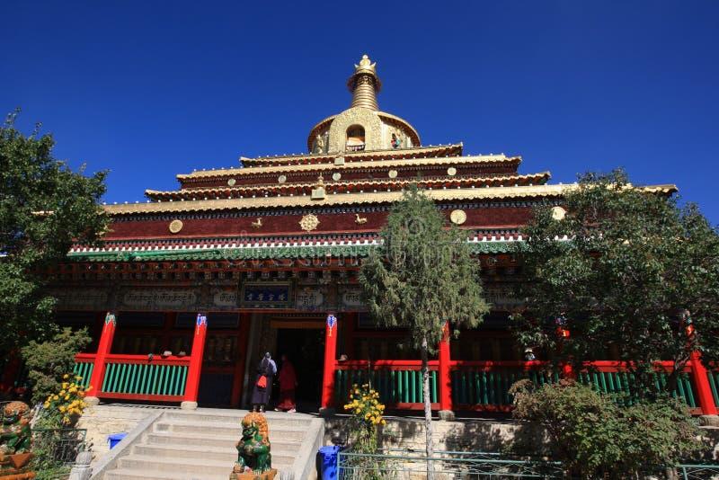 Labuleng świątynia, południe Gansu, Chiny obrazy stock