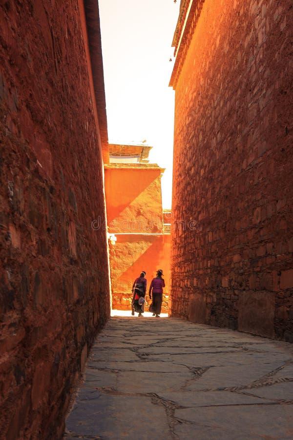 Labuleng świątynia, południe Gansu, Chiny zdjęcie royalty free