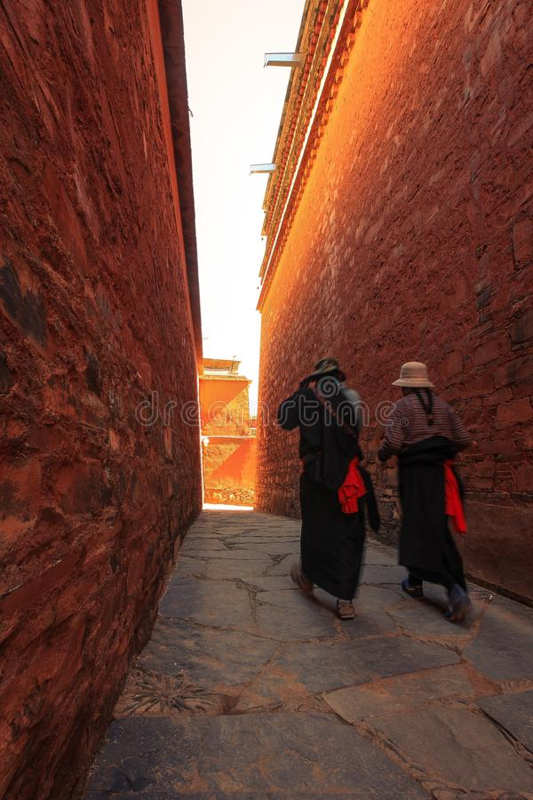 Labuleng świątynia, południe Gansu, Chiny obrazy royalty free