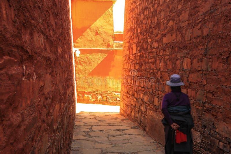 Labuleng świątynia, południe Gansu, Chiny zdjęcie stock
