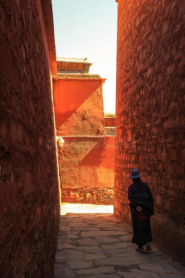 Labuleng świątynia, południe Gansu, Chiny obraz stock