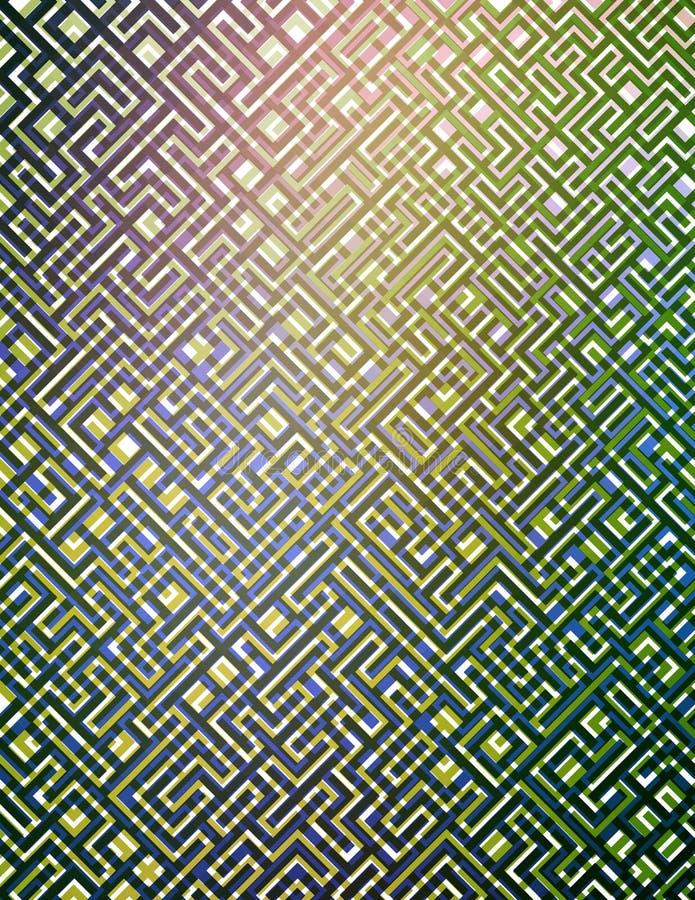 Labyrint 1 royalty-vrije illustratie