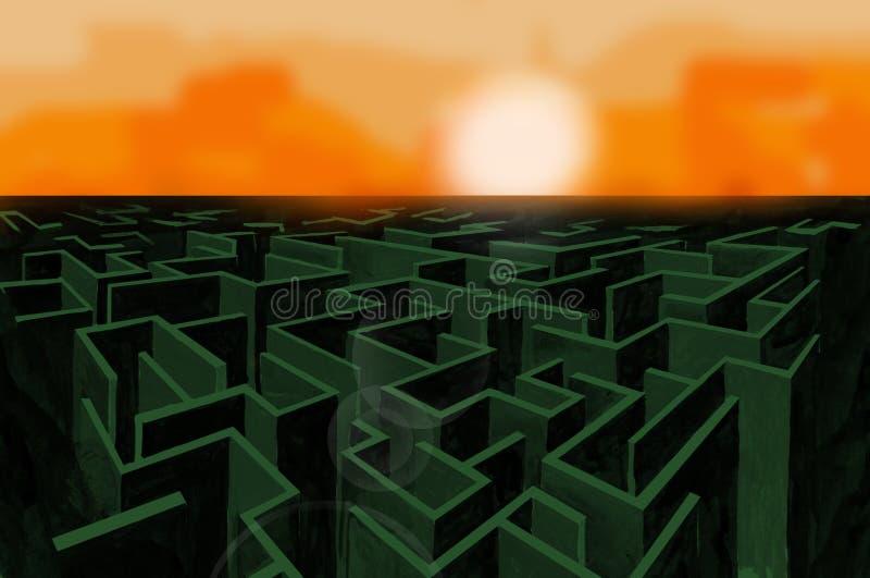 labyrint royaltyfri illustrationer