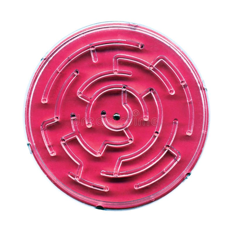 Labyrint stock afbeelding