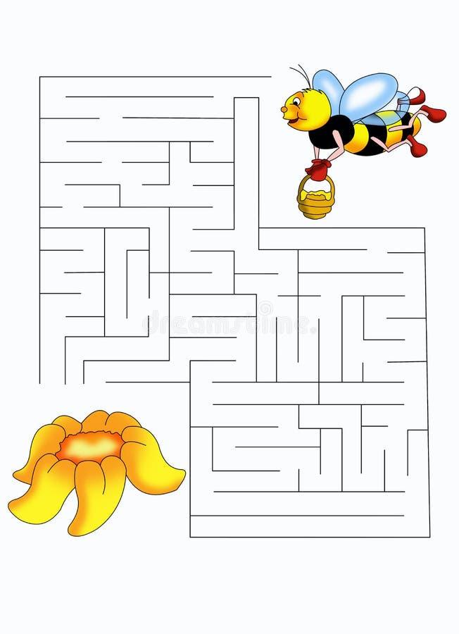 labyrint 3 vektor illustrationer
