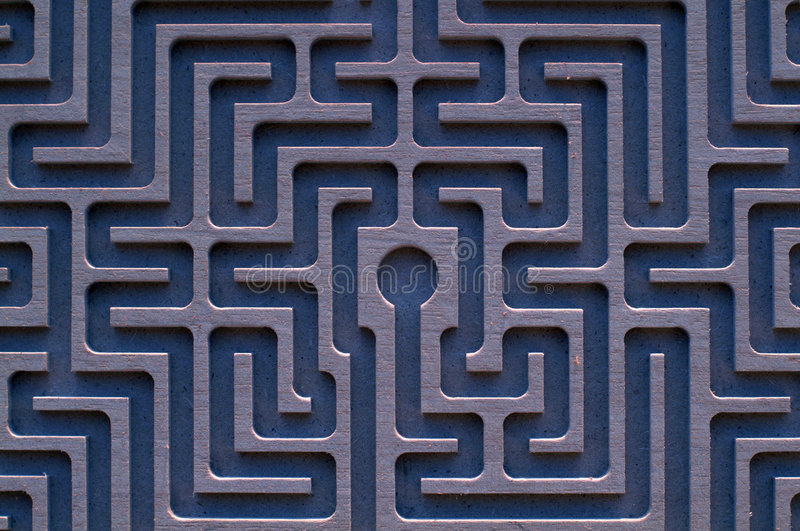 labyrint royaltyfri foto